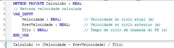 Figura 6 – Implementação do método CalculoAc