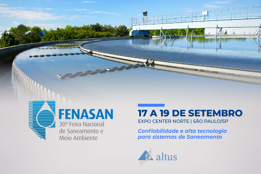 Tecnologia Altus exposta na FENASAN 2019