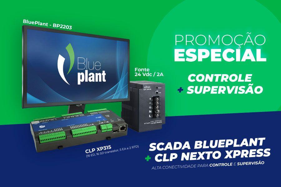 Promoção SCADA BluePlant + CLP Nexto Xpress 2021