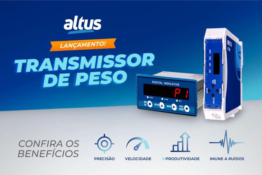 Altus lança linha de transmissores de peso