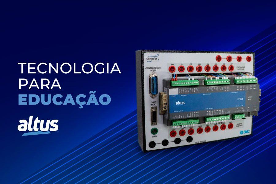 Bancadas didáticas do SENAI utilizam a tecnologia do CLP Nexto Xpress