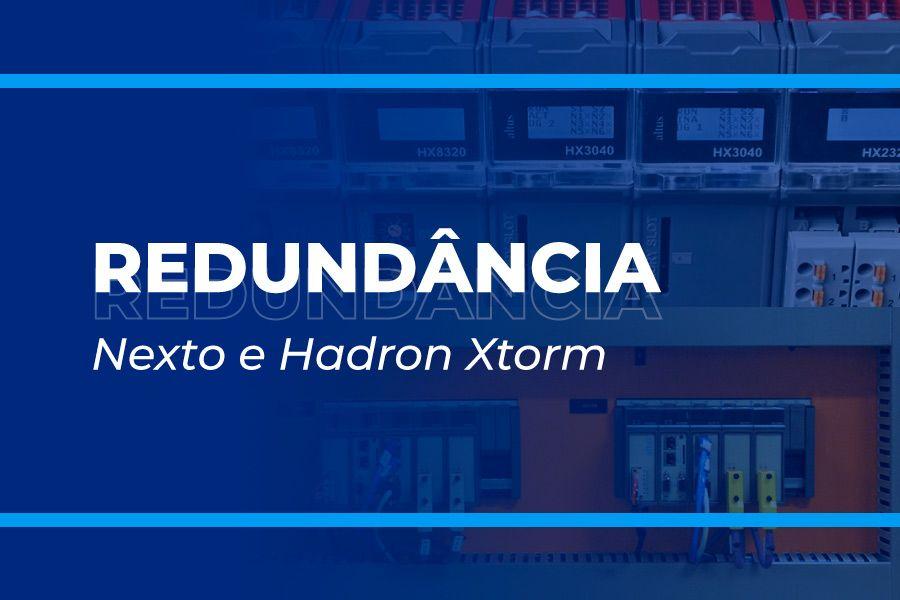 Alta disponibilidade com redundância de CPU e redes nas séries Nexto e Hadron Xtorm