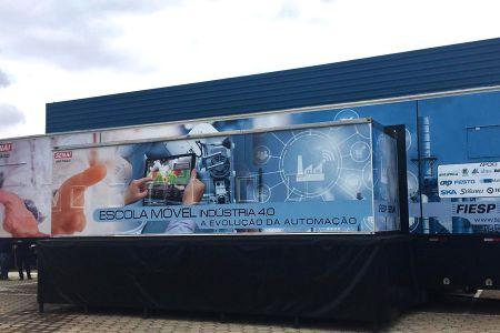 Unidade móvel do Senai leva tecnologia Altus para as cidades mais distantes de São Paulo