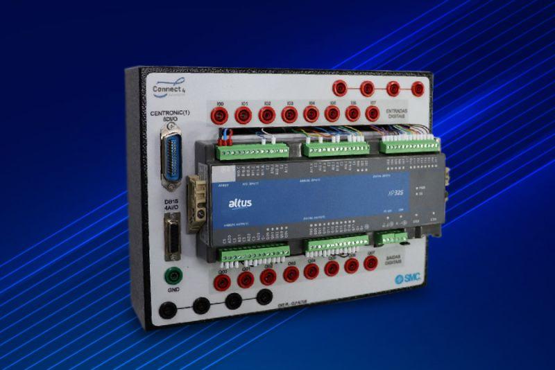 Imagem 79 - Bancadas didáticas do SENAI utilizam a tecnologia do CLP Nexto Xpress